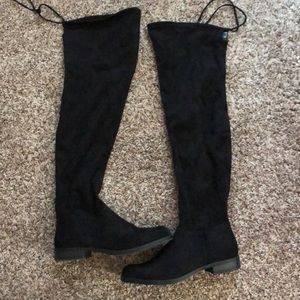 Over the knee faux suede boots!!!